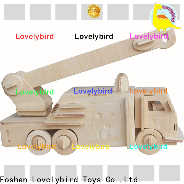 Lovelybird Toys 3d truck puzzle factory for kids