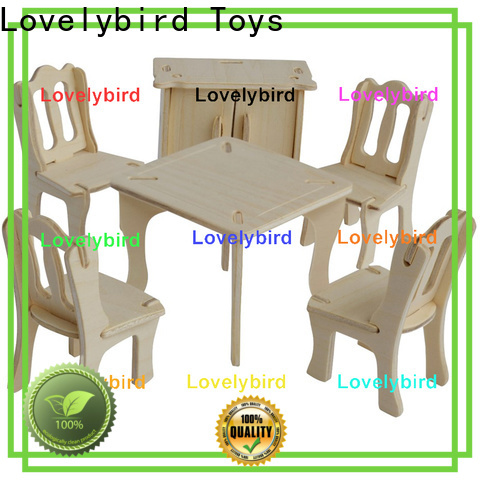 Lovelybird Toys high-quality 3d wooden puzzle dollhouse furniture suppliers for present