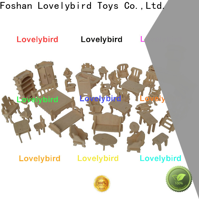 Lovelybird Toys high-quality 3d wooden puzzle dollhouse furniture supply for sale