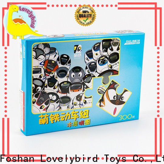 Lovelybird Toys educational wooden jigsaw puzzles with frame for kids