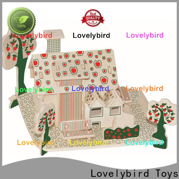 Lovelybird Toys interesting 3d wooden house puzzles manufacturers for business