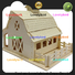 wholesale 3d wooden puzzle house manufacturers for kids