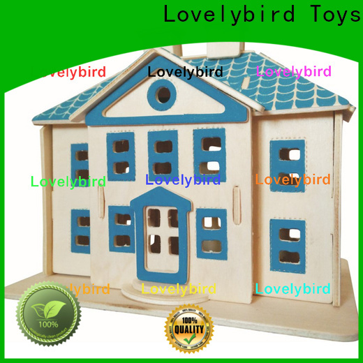 Lovelybird Toys 3d wooden house puzzles factory for kids