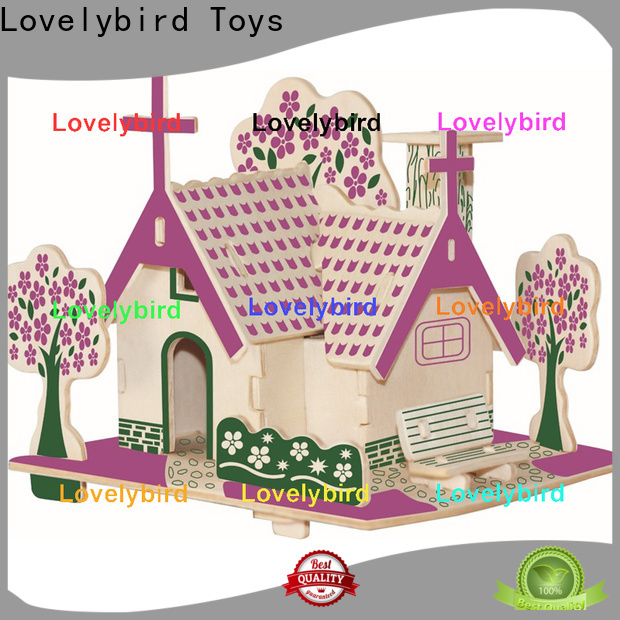 Lovelybird Toys 3d wooden house puzzles factory for present
