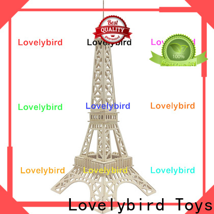 Lovelybird Toys hot sale 3d wooden house puzzles suppliers for sale