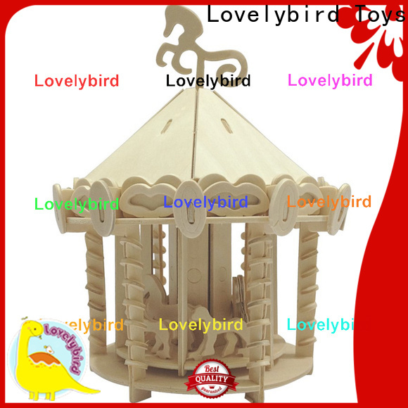 good selling 3d wooden house puzzles suppliers for kids