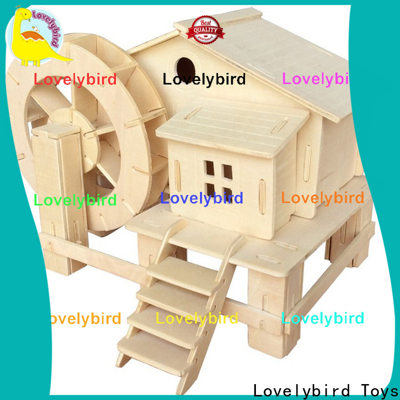 Lovelybird Toys latest 3d wooden puzzle house factory for kids