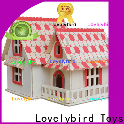 Lovelybird Toys good selling 3d wooden house puzzles manufacturers for sale