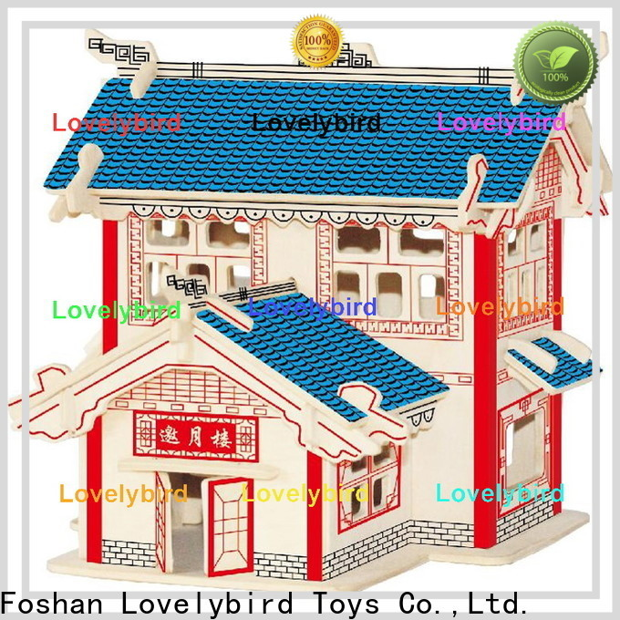 Lovelybird Toys new 3d wooden puzzle house suppliers for adults