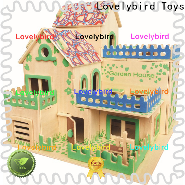 Lovelybird Toys hot sale 3d wooden house puzzles factory for adults