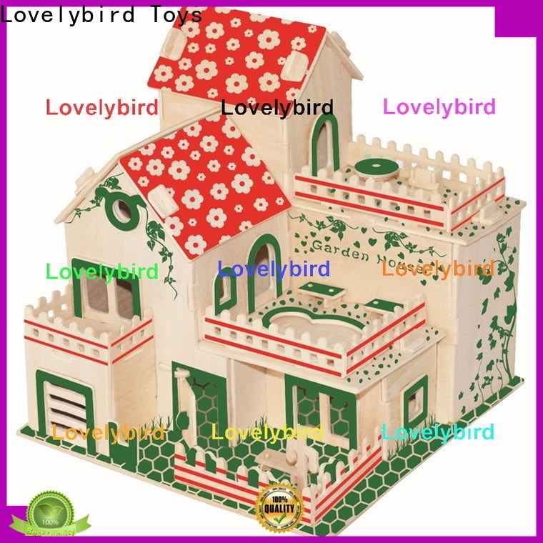 good selling 3d wooden house puzzles suppliers for sale