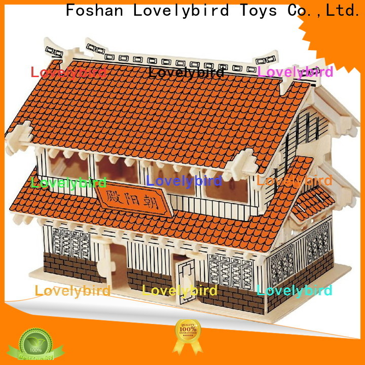 Lovelybird Toys 3d wooden house puzzles manufacturers for business