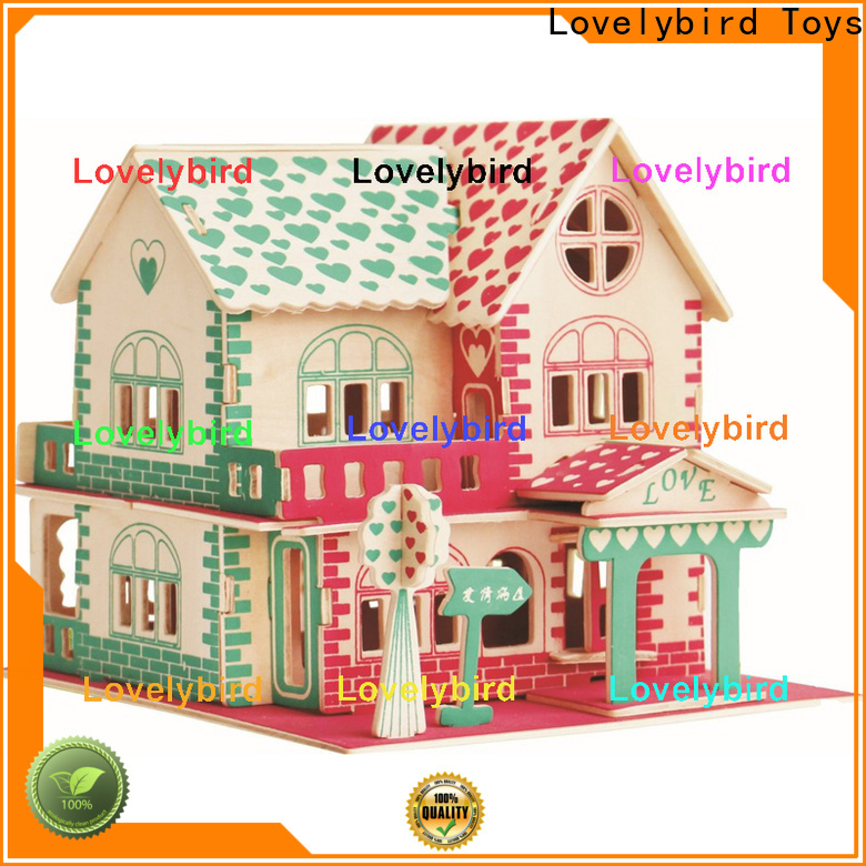 Lovelybird Toys interesting 3d wooden puzzle house manufacturers for adults