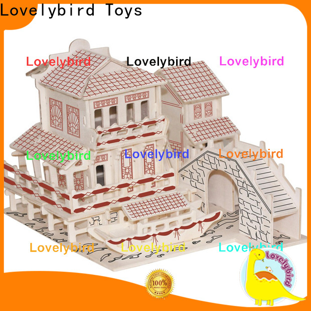 Lovelybird Toys latest 3d wooden house puzzles manufacturers for adults