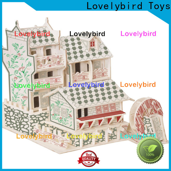 Lovelybird Toys wholesale 3d wooden puzzle house suppliers for adults