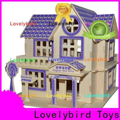 Lovelybird Toys 3d wooden puzzle house factory for sale