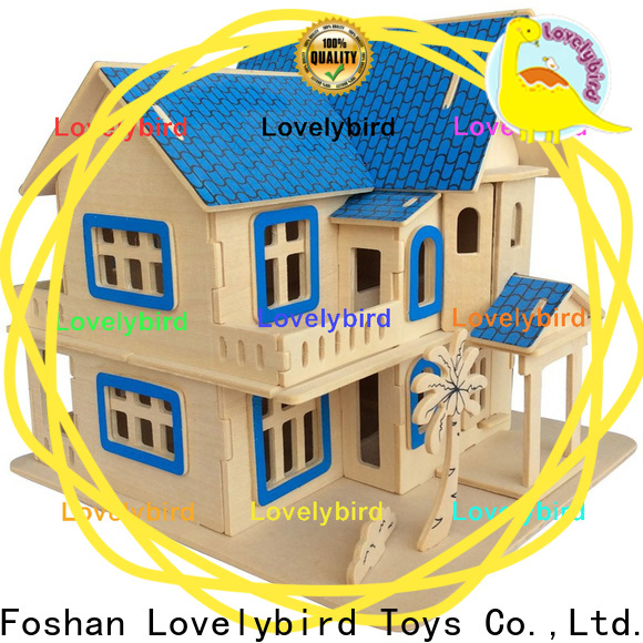 high-quality 3d wooden puzzle house factory for kids