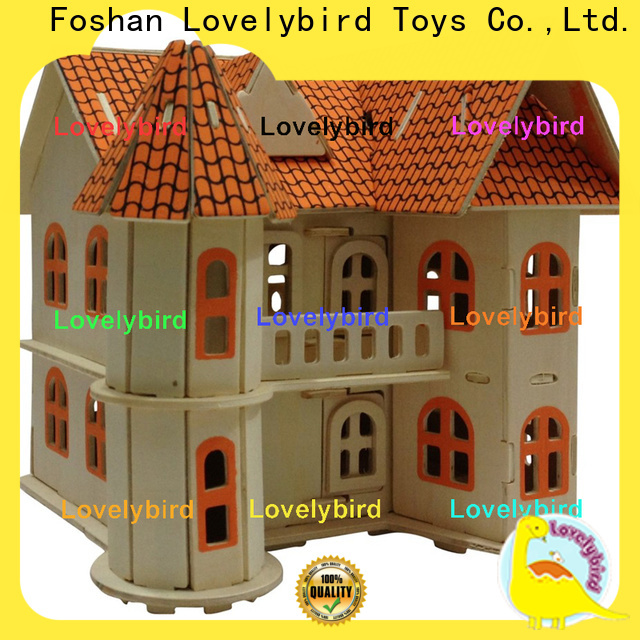 good selling 3d wooden puzzle house supply for adults
