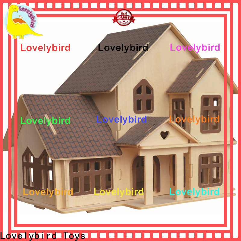 Lovelybird Toys custom 3d wooden puzzle house supply for sale