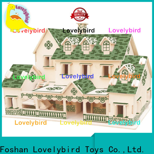 Lovelybird Toys 3d wooden puzzle house manufacturers for adults