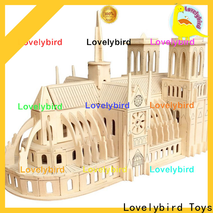 custom 3d wooden puzzle house suppliers for kids