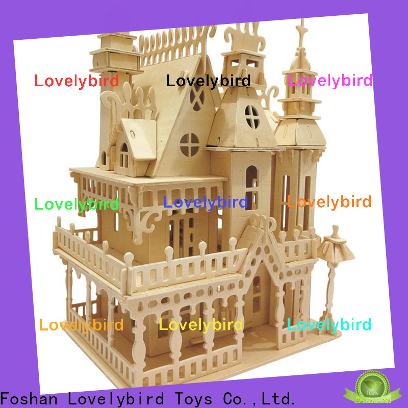 new 3d wooden house puzzles factory for sale