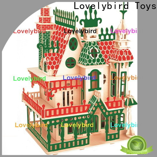 Lovelybird Toys top 3d wooden house puzzles suppliers for present