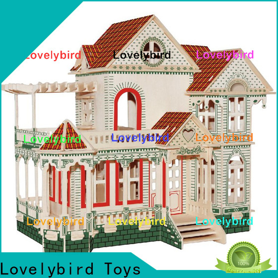 Lovelybird Toys 3d wooden house puzzles factory for business