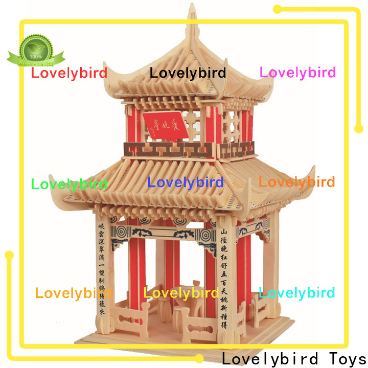 Lovelybird Toys 3d wooden puzzle house manufacturers for kids