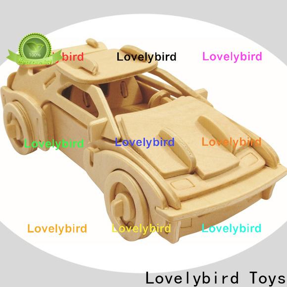 Lovelybird Toys wholesale 3d wooden car puzzle manufacturers for entertainment