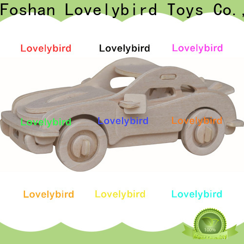Lovelybird Toys 3d wooden car puzzle supply for adults
