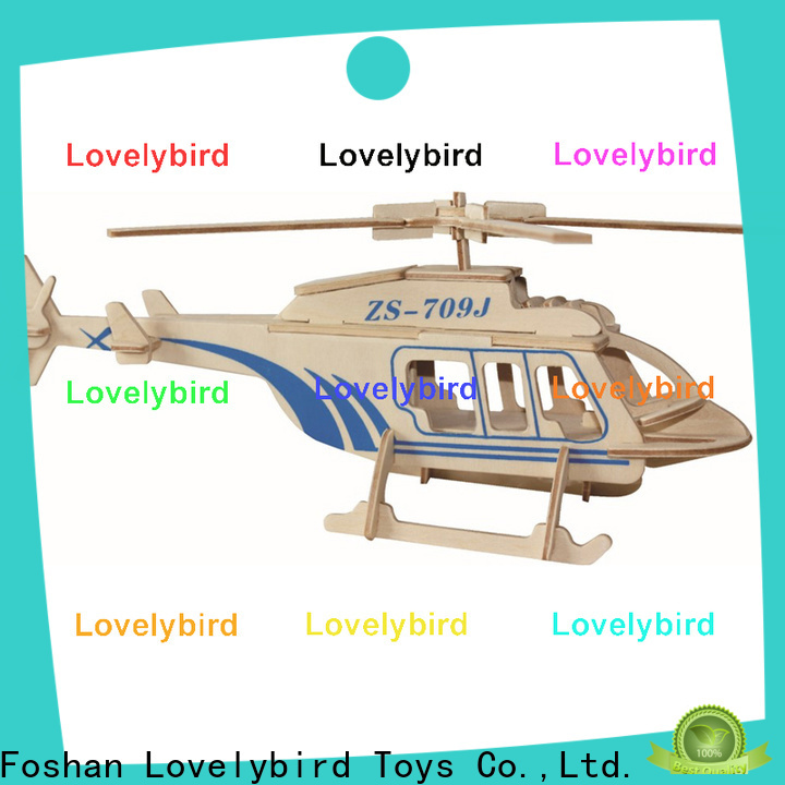 Lovelybird Toys 3d airplane puzzle company for entertainment