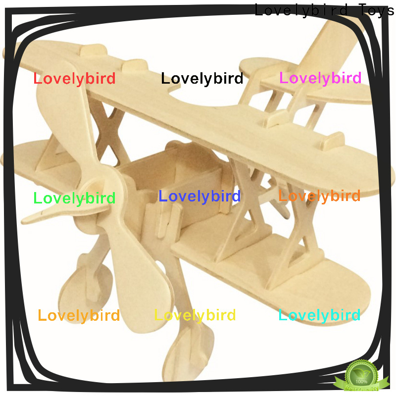 Lovelybird Toys custom 3d wooden car puzzle factory for entertainment