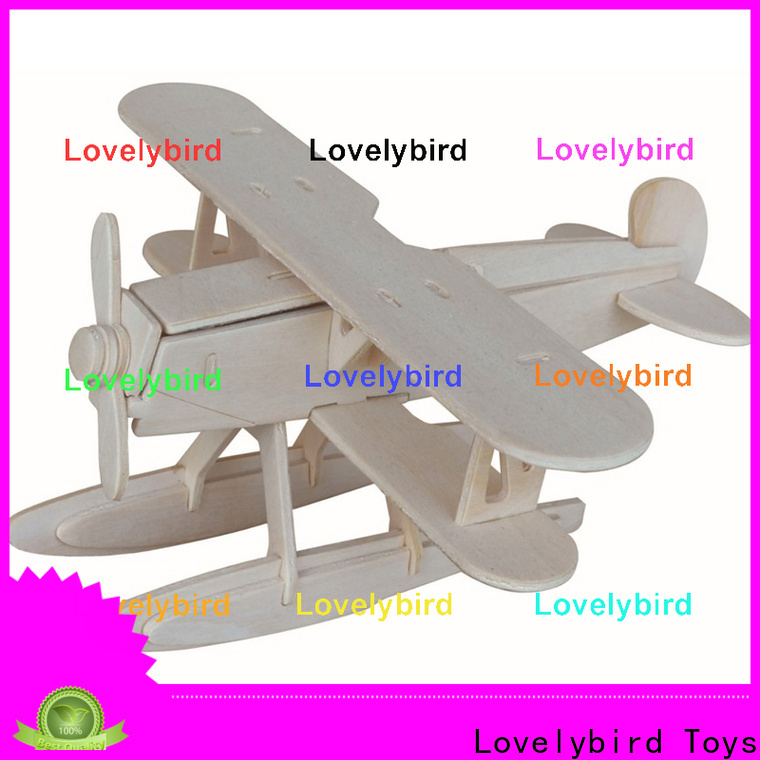 Lovelybird Toys 3d airplane puzzle suppliers for present