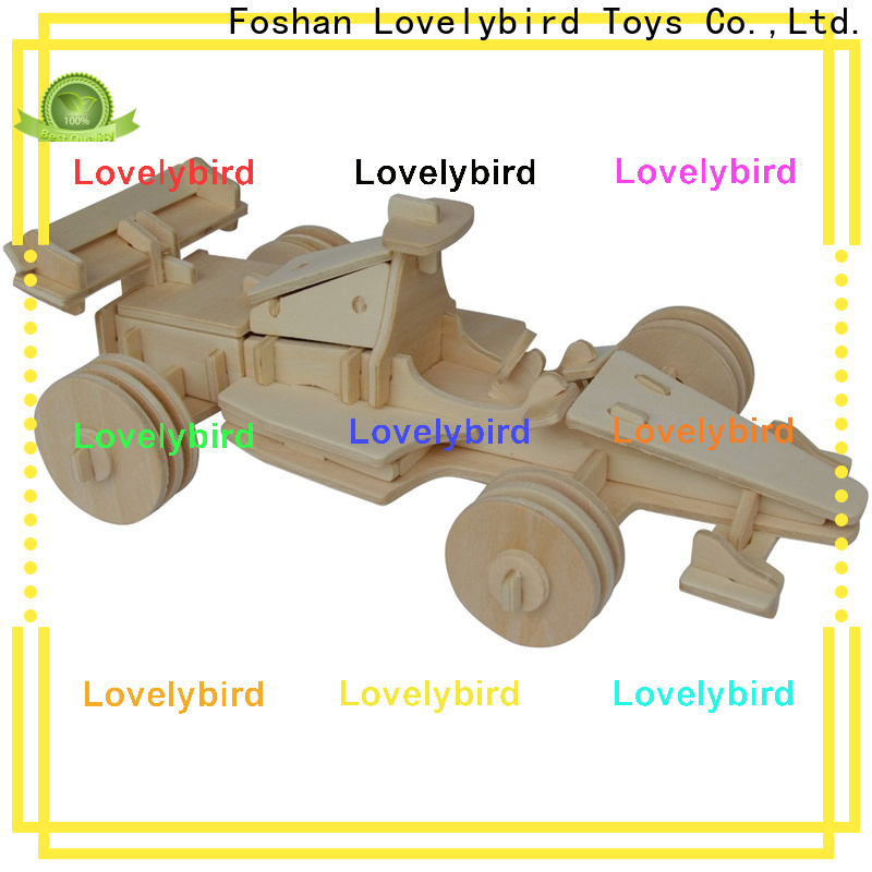 Lovelybird Toys 3d wooden car puzzle suppliers for entertainment