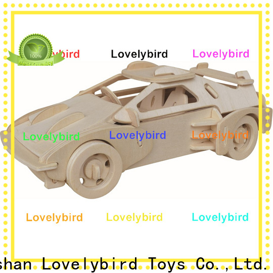 Lovelybird Toys 3d wooden car puzzle company for present