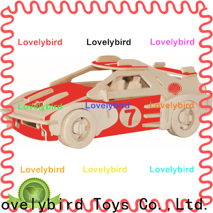Lovelybird Toys custom 3d wooden car puzzle supply for adults