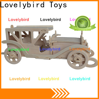 Lovelybird Toys wholesale 3d wooden puzzle car supply for business