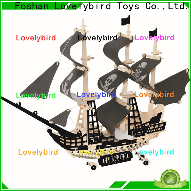 Lovelybird Toys high-quality 3d wooden puzzle car manufacturers for kids