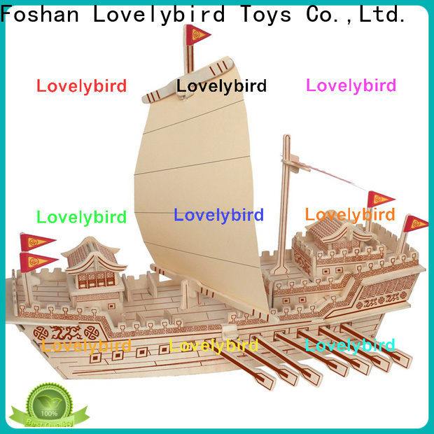 Lovelybird Toys 3d wooden puzzle car manufacturers for present