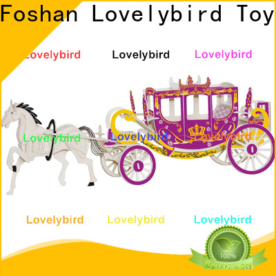 Lovelybird Toys 3d wooden car puzzle supply for sale