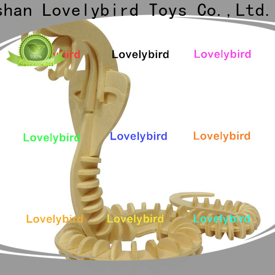 Lovelybird Toys high-quality 3d wooden animal puzzle supply for business