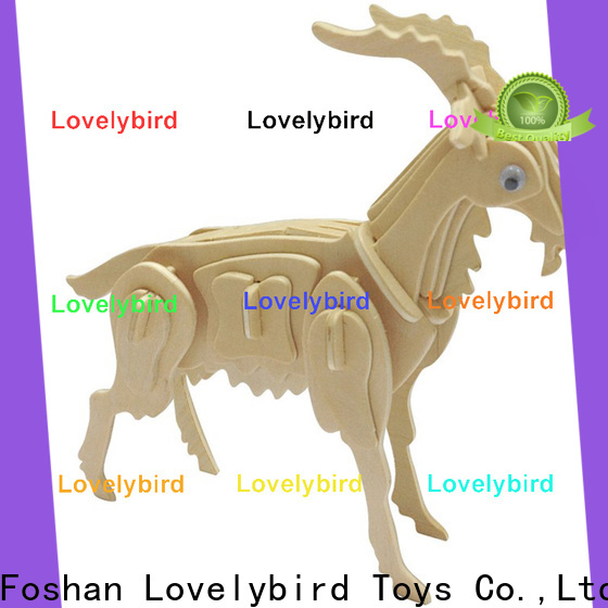 Lovelybird Toys new 3d wooden puzzle animals manufacturers for kids