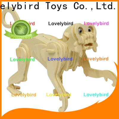 Lovelybird Toys beautiful 3d wooden animal puzzle company for present