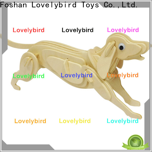 fast delivery 3d wooden puzzle animals manufacturers for adults
