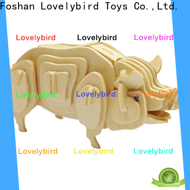 Lovelybird Toys 3d wooden animal puzzle factory for sale