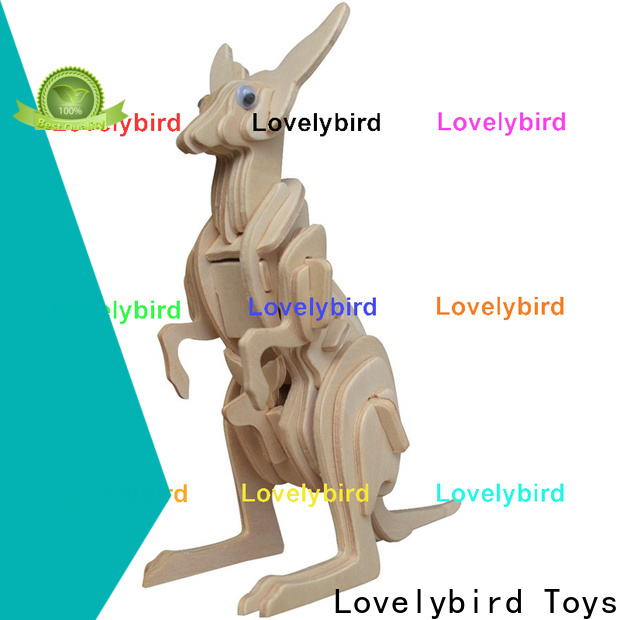 Lovelybird Toys beautiful 3d wooden animal puzzle factory for business