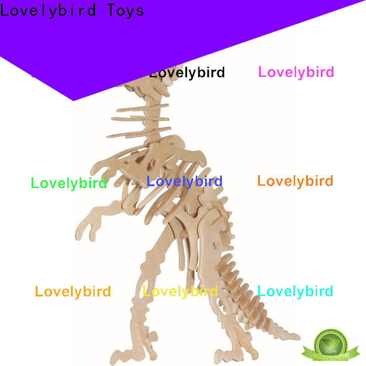 Lovelybird Toys 3d wooden puzzle animals suppliers for kids