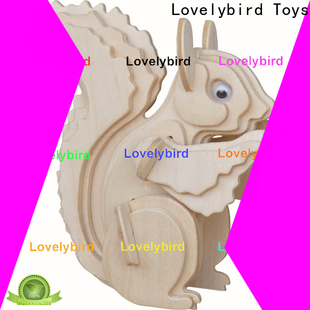 Lovelybird Toys wooden 3d animal puzzles supply for business