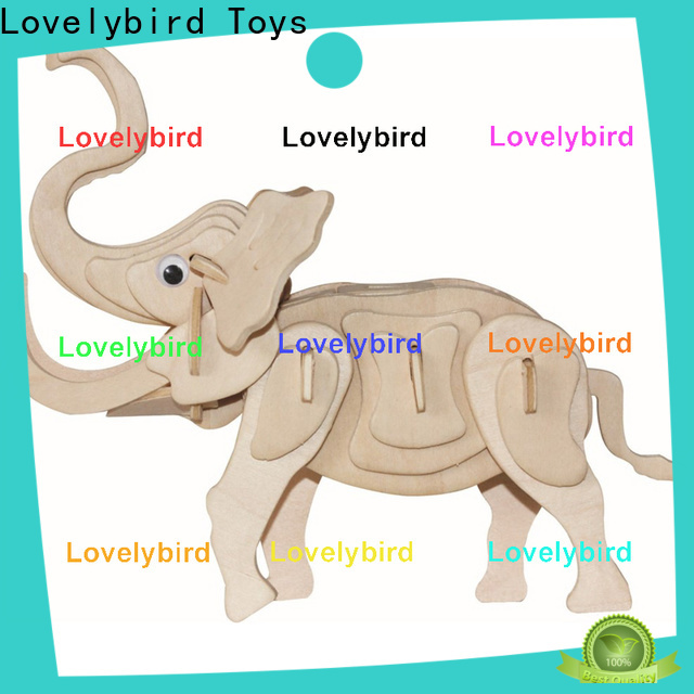 Lovelybird Toys fast delivery 3d wooden puzzle animals factory for business